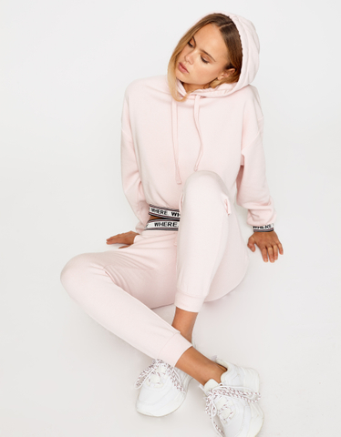 Pink Slogan Joggers