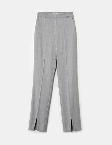 Grey High Waist Skinny Trousers