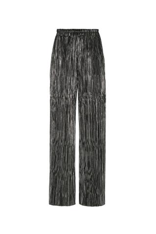 Pantalon Plissé Argenté