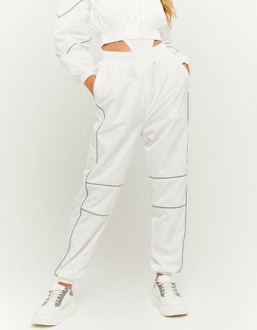 Weiße Jogginghose aus Nylon