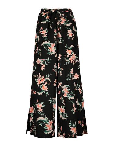 Wide Hose mit Blumen