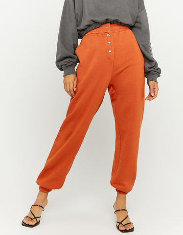 Pantaloni Jogger Oversize Cognac