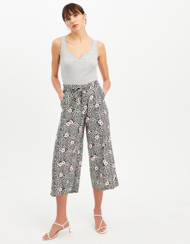 Leo & Flower Print Trousers
