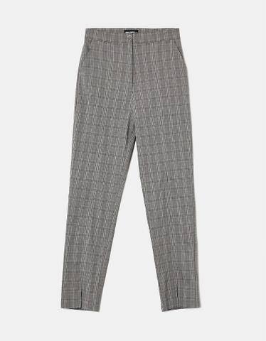 Pantaloni Neri Skinny a Vita Alta