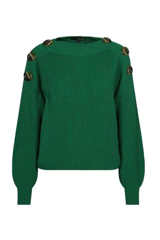 Green Buttoned Jumper