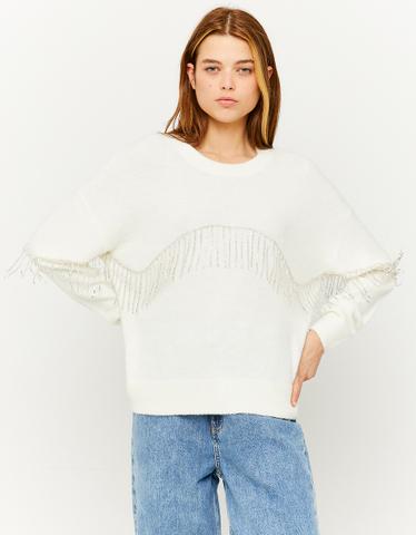 Maglione Bianco con Strass