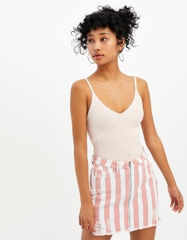 Pink Fine Knit Top