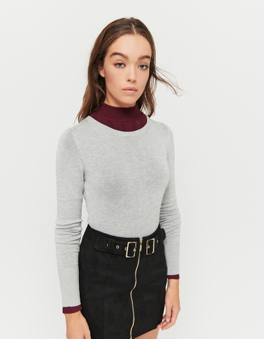 Grey Fitted Jumper