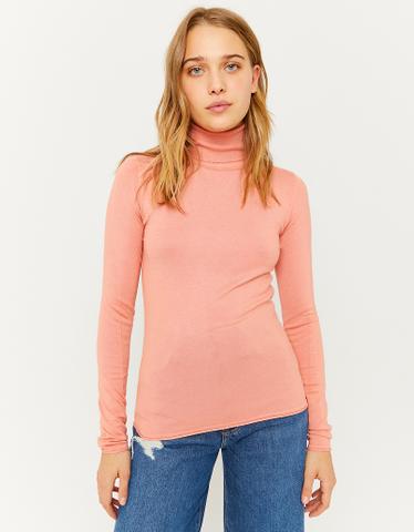 Basic Pullover mit Rollkragen