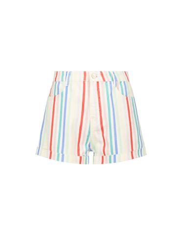 Gestreifte Weiße Shorts