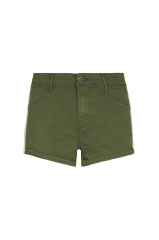 Khaki Side Stripe Shorts