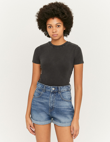 Lightwash Blue Denim Shorts