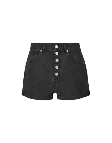 Mom Button Front Shorts