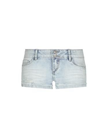 Pantaloncini in Jeans con Risvolto