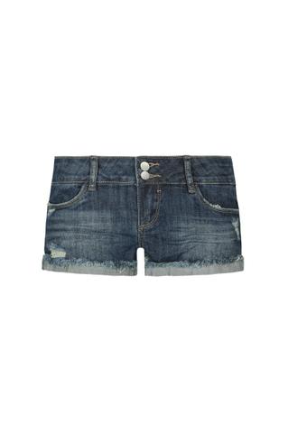 Denim Side Stripe Shorts