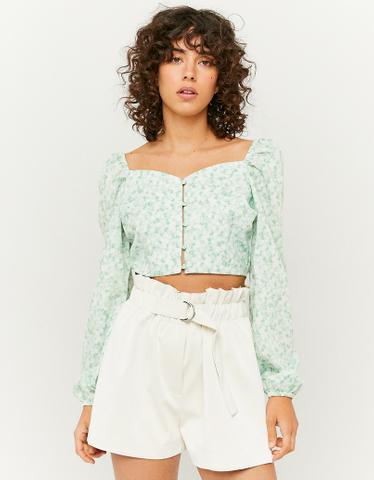 Short Paperbag Blanc en Similicuir Taille Haute