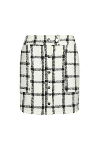 White Tweed Skirt