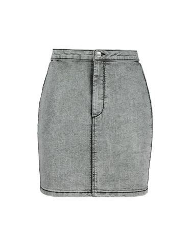 Czarna jeansowa elastyczna spódnica