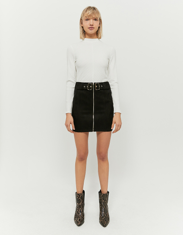 Black Suedette Skirt