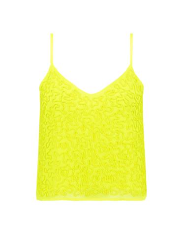 Neon Sequin Top