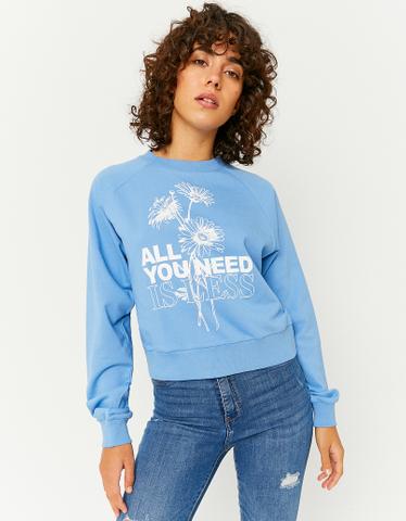 Printed Raglan Sleeves Sweatshirt