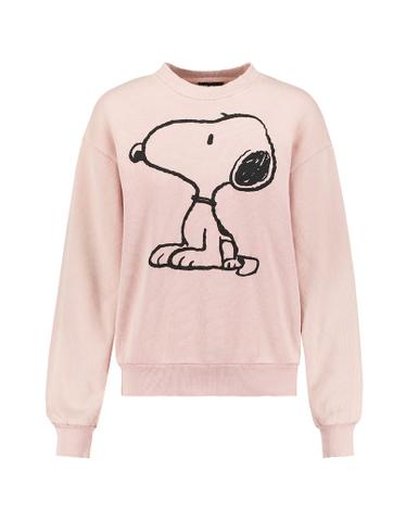 Pink Snoopy Print Sweatshirt