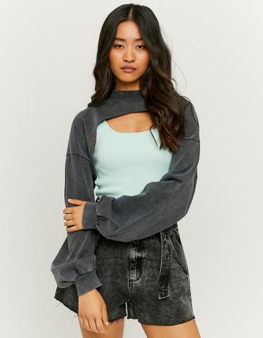 Kurzer Sweatshirt