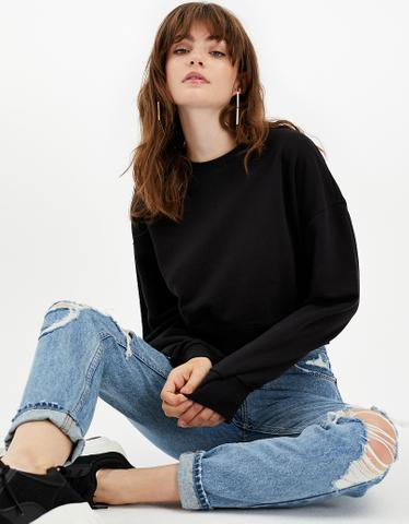 Black Sweatshirt with Zip