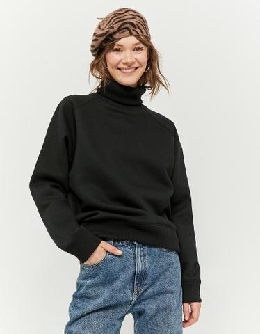 Black High Neck Sweatshirt