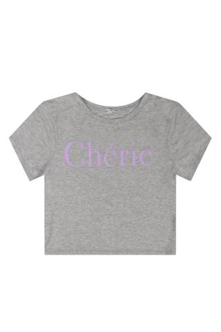 "Grey ""Chérie"" Top"