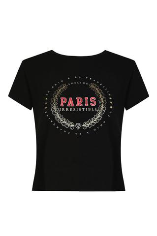 """T-Shirt Noir """"PARIS"""""""