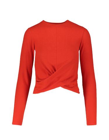Orange-Red Twist Top