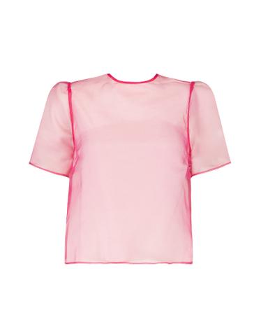 Pinkes T-Shirt aus Organza