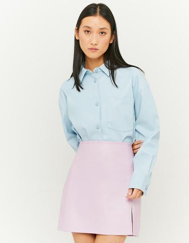 Blaues Hemd aus Kunstleder