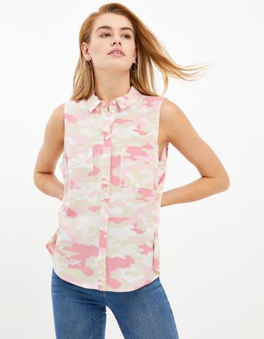 Pink Camo Sleeveless Shirt
