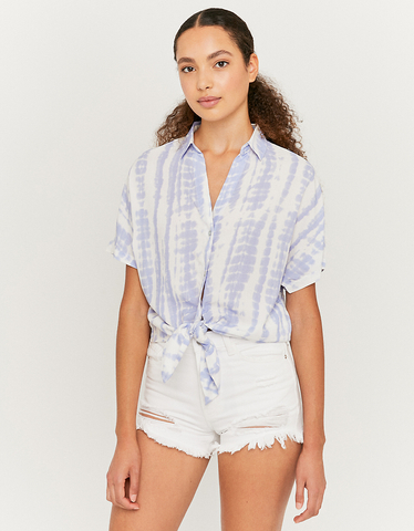 Tie Dye Knotted Shirt