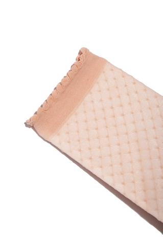 Pinke, transparente Kurzsocken mit Rüschen