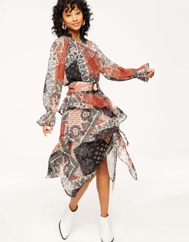 Paisley Ruffled Dress