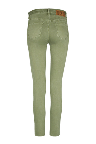 Khaki Ripped Trousers