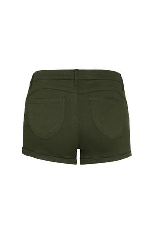 Khaki High Waist Mini Shorts