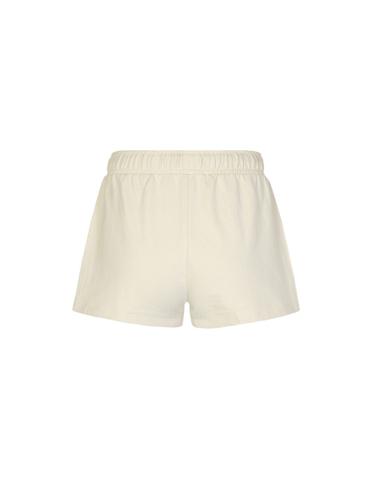 Beige Shorts mit seitlichen Streifen