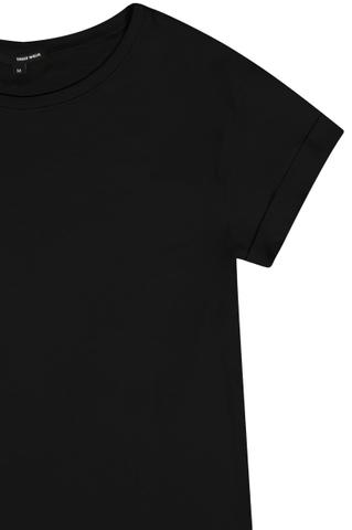 Black Basic Short Sleeves Top