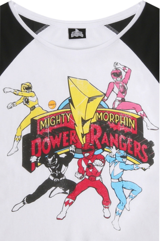 White Power Rangers Crop Top