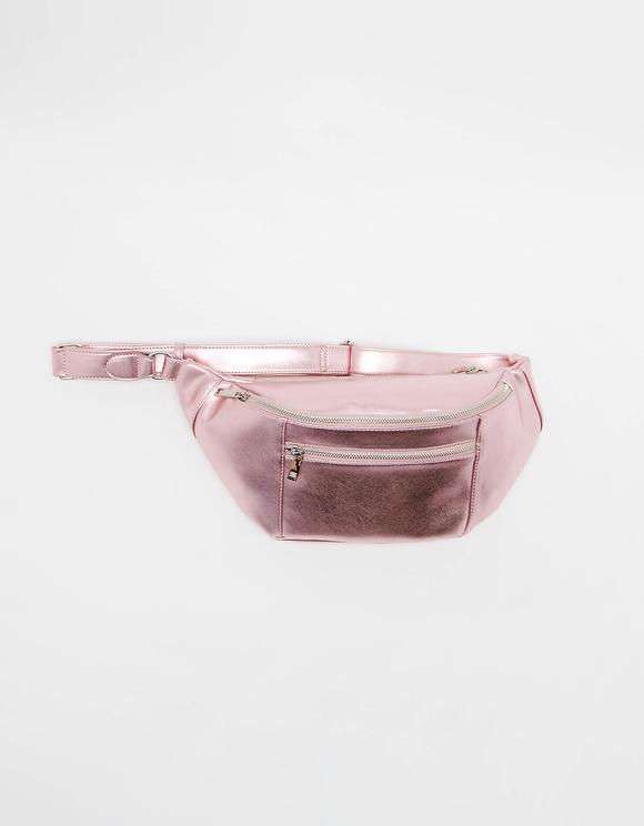 Metallisch-Pinke Gürteltasche