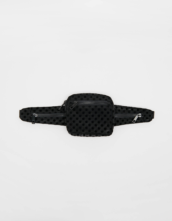 Mesh Polka Dot Belt Bag