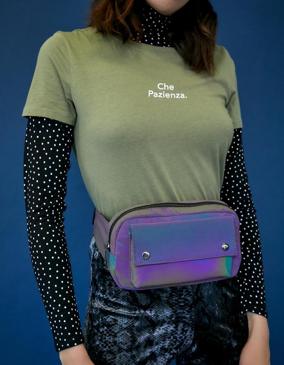 Violette, reflektierende Gürteltasche