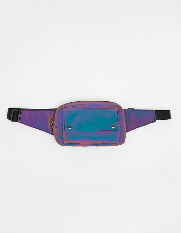 Purple Hologram Belt Bag