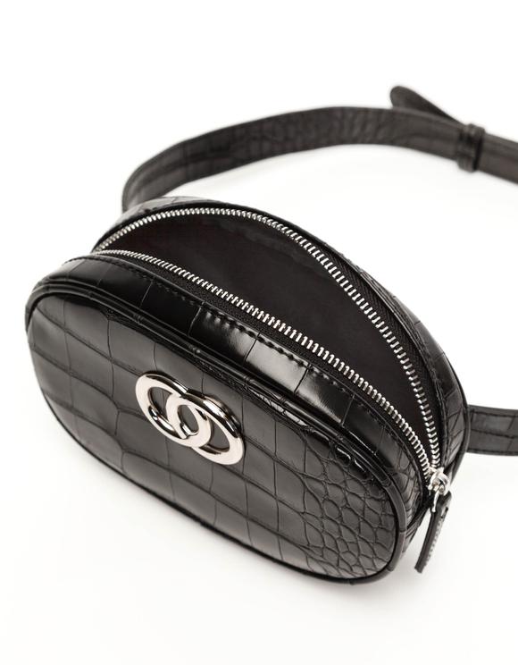Croc Print Belt Bag