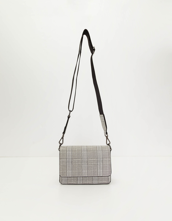 Checked Crossbody Bag