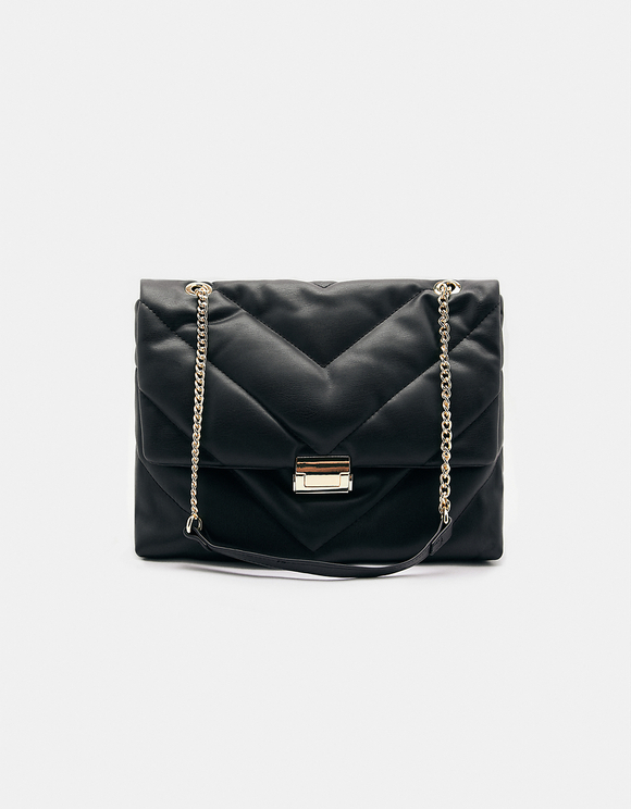 Black Quilted Crossbody Bag